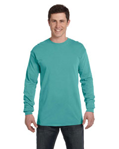 Seafoam Ringspun Garment-Dyed Long-Sleeve T-Shirt