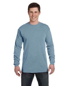 Bay Ringspun Garment-Dyed Long-Sleeve T-Shirt
