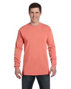 Watermelon Ringspun Garment-Dyed Long-Sleeve T-Shirt
