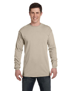 Stone Ringspun Garment-Dyed Long-Sleeve T-Shirt