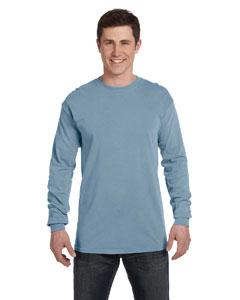 Ice Blue Ringspun Garment-Dyed Long-Sleeve T-Shirt