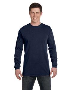 True Navy Ringspun Garment-Dyed Long-Sleeve T-Shirt