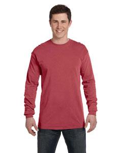 Brick Ringspun Garment-Dyed Long-Sleeve T-Shirt
