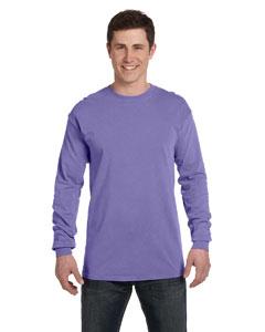 Violet Ringspun Garment-Dyed Long-Sleeve T-Shirt