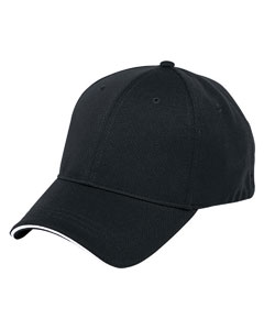 Black/white 6-Panel Soft Mesh Cap