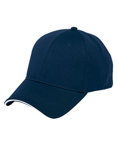 Navy/white 6-Panel Soft Mesh Cap