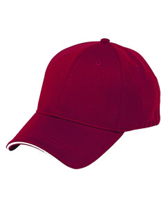 Scarlet/white 6-Panel Soft Mesh Cap