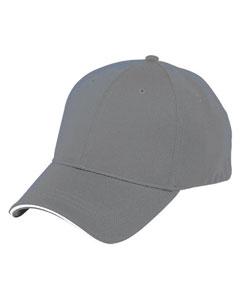 Steel/white 6-Panel Soft Mesh Cap