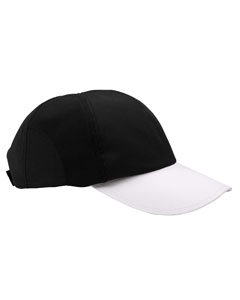 Black/white Moisture-Wicking Mesh Cap
