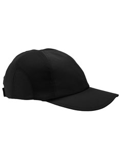 Black Moisture-Wicking Mesh Cap