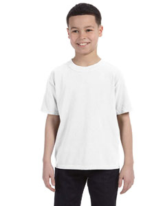 White Youth 5.4 oz. Ringspun Garment-Dyed T-Shirt