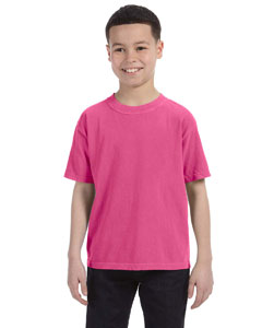 Raspberry Youth 5.4 oz. Ringspun Garment-Dyed T-Shirt