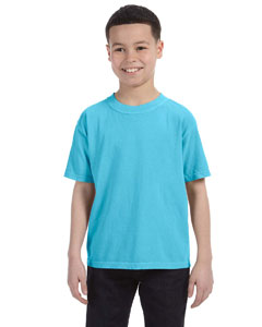 Lagoon Blue Youth 5.4 oz. Ringspun Garment-Dyed T-Shirt