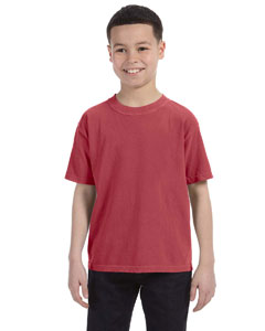 Crimson Youth 5.4 oz. Ringspun Garment-Dyed T-Shirt