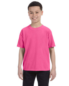 Neon Pink Youth 5.4 oz. Ringspun Garment-Dyed T-Shirt