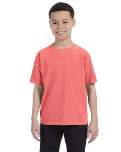 Neon Red Orange Youth 5.4 oz. Ringspun Garment-Dyed T-Shirt