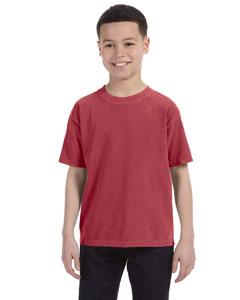Brick Youth 5.4 oz. Ringspun Garment-Dyed T-Shirt