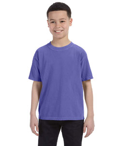 Periwinkle Youth 5.4 oz. Ringspun Garment-Dyed T-Shirt