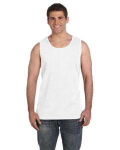 White Ringspun Garment-Dyed Tank