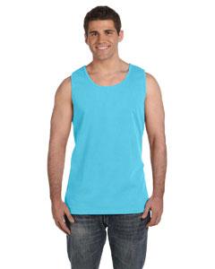 Lagoon Blue Ringspun Garment-Dyed Tank