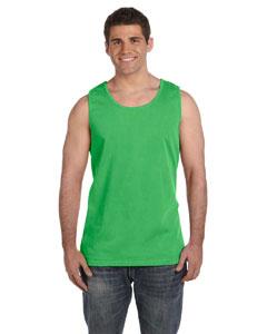 Neon Green Ringspun Garment-Dyed Tank