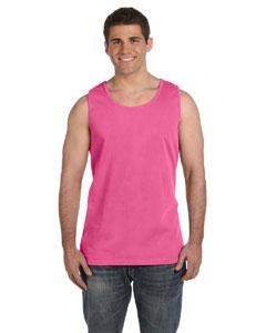 Neon Pink Ringspun Garment-Dyed Tank