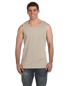 Sandstone Ringspun Garment-Dyed Tank