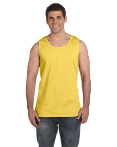 Neon Yellow Ringspun Garment-Dyed Tank
