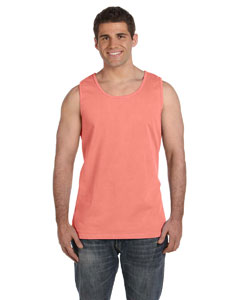 Watermelon Ringspun Garment-Dyed Tank