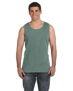 Light Green Ringspun Garment-Dyed Tank