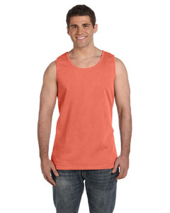 Bright Salmon Ringspun Garment-Dyed Tank