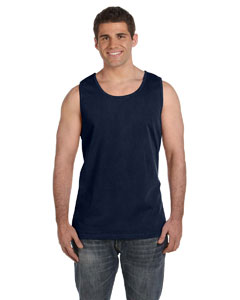 True Navy Ringspun Garment-Dyed Tank