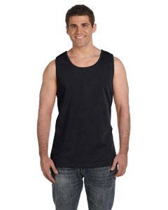 Black Ringspun Garment-Dyed Tank