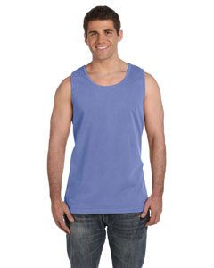 Flo Blue Ringspun Garment-Dyed Tank