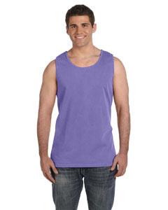 Violet Ringspun Garment-Dyed Tank