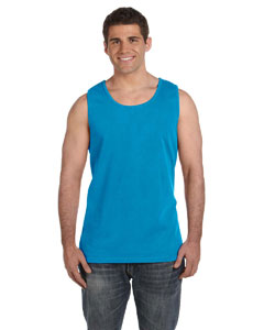 Sapphire Ringspun Garment-Dyed Tank