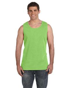 Lime Ringspun Garment-Dyed Tank