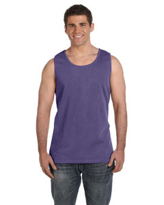 Grape Ringspun Garment-Dyed Tank