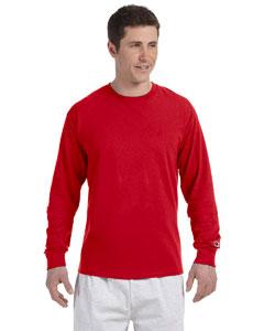 Red 5.2 oz. Long-Sleeve Tagless T-Shirt