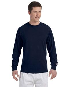 Navy 5.2 oz. Long-Sleeve Tagless T-Shirt