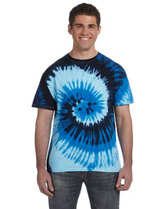 Blue Ocean 5.4 oz., 100% Cotton Tie-Dyed T-Shirt
