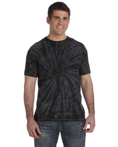 Spider Black 5.4 oz., 100% Cotton Tie-Dyed T-Shirt