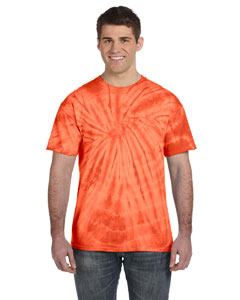 Spider Orange 5.4 oz., 100% Cotton Tie-Dyed T-Shirt