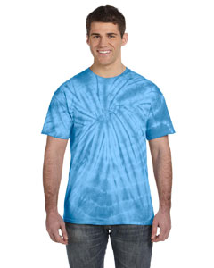 Spider Turquoise 5.4 oz., 100% Cotton Tie-Dyed T-Shirt