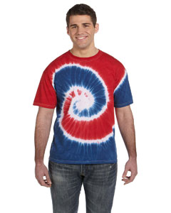 Spiral Royal & Red 5.4 oz., 100% Cotton Tie-Dyed T-Shirt