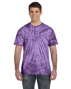 Spider Purple 5.4 oz., 100% Cotton Tie-Dyed T-Shirt