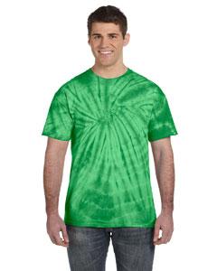 Spider Green 5.4 oz., 100% Cotton Tie-Dyed T-Shirt