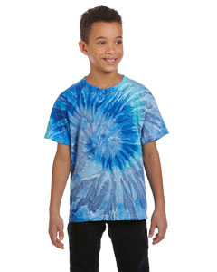 Blue Jerry Youth 5.4 oz., 100% Cotton Tie-Dyed T-Shirt