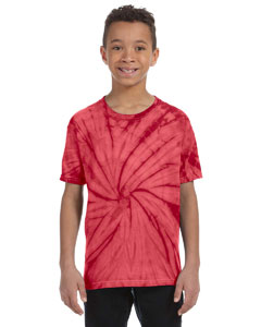 Spider Red Youth 5.4 oz., 100% Cotton Tie-Dyed T-Shirt