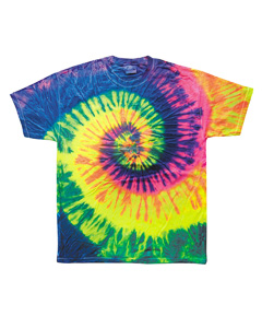 Neon Rainbow Youth 5.4 oz., 100% Cotton Tie-Dyed T-Shirt